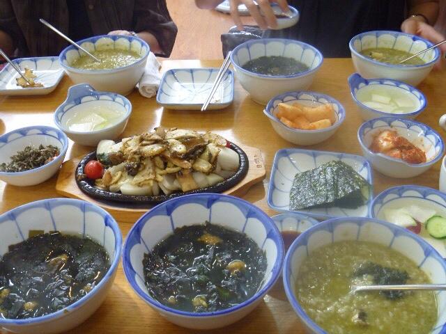 釜山のはアワビ粥